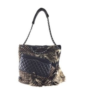 25b76dbb4dd 2.55 Reissue Cabas Karl's Fantasy Fur Tweed Tote